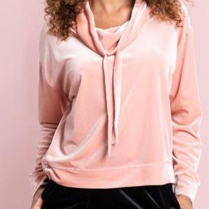 Peach Velvet Sofia Sweatshirt NWT Size XS